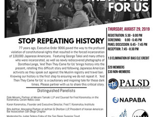 """And Then They Came For Us"" Film Screening August 29th"