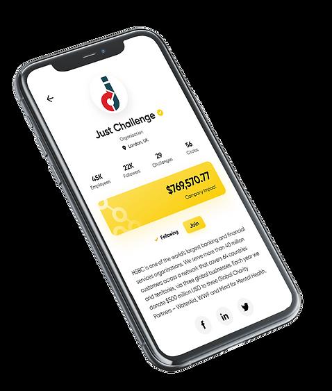 Company Impact Force for Good App screenshot.