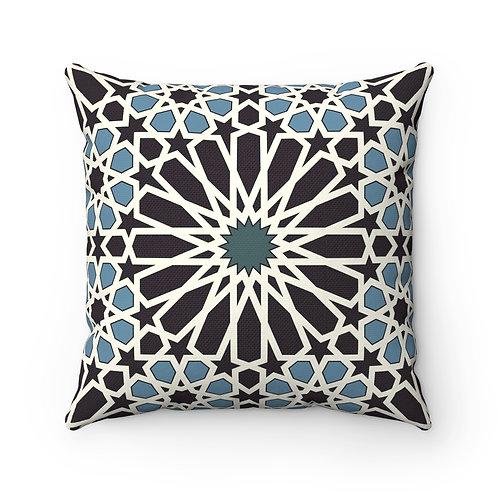 43 x 43cm Geometric Original Moroccan Tiles Home Decor Cushion Cover Blue Black