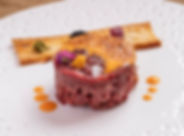 Hand Cut Steak Tartare with Hollandaise_