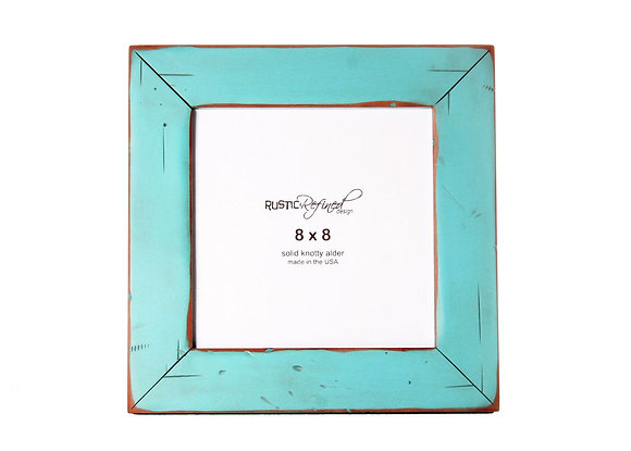 8x8 Cabin picture frame - Turquoise