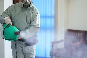 Disinfectant sprayers and germs that adh