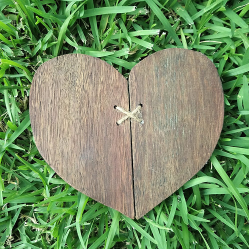Broken and Restored reclaimed timber handmade cross stitch heart home decor heart sign