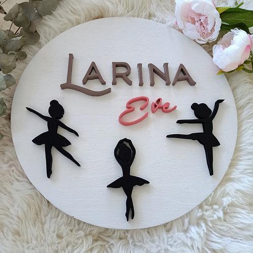 Ballerinas 40cm Custom name sign