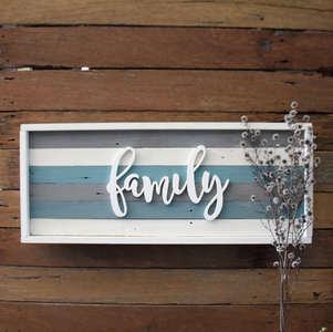 192 Framed Family sign