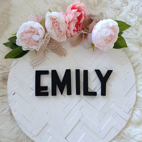 Floral 40 cm Custom Name Sign