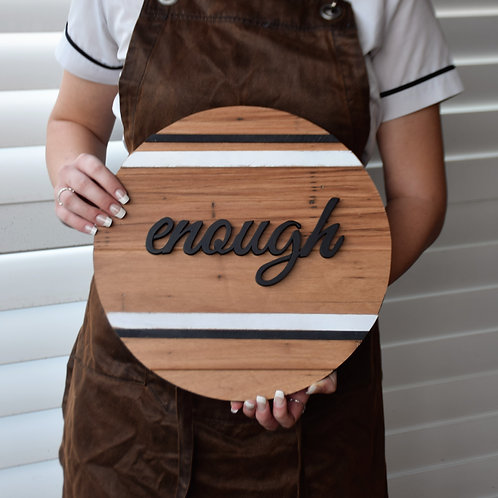 'enough' sign