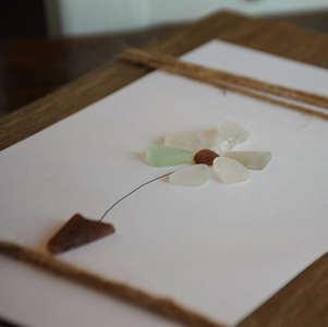 194 Seaglass art