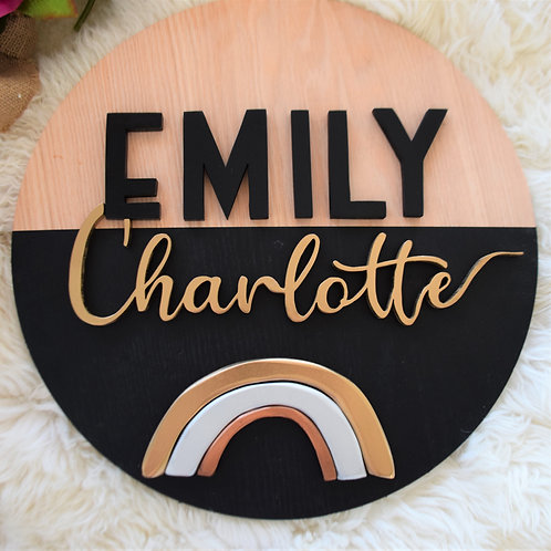 Rainbow 40cm Custom name sign