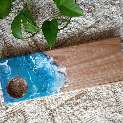 Resin timber serving board