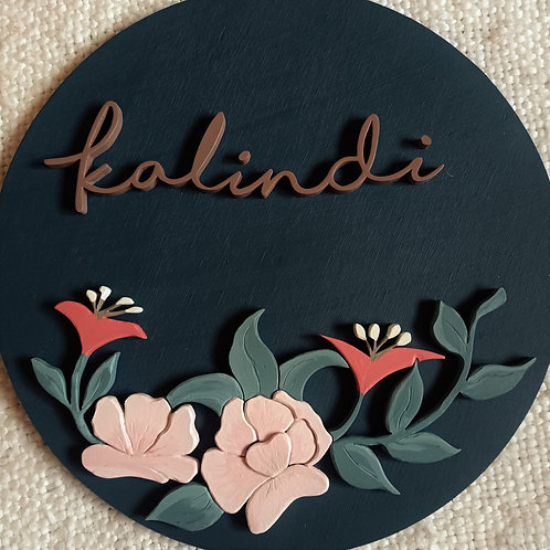 Floral design 1 - 40cm Custom name sign