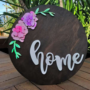 189 Round home sign