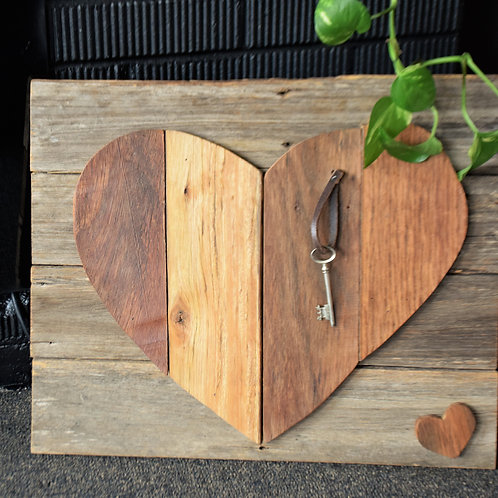 Large timber heart