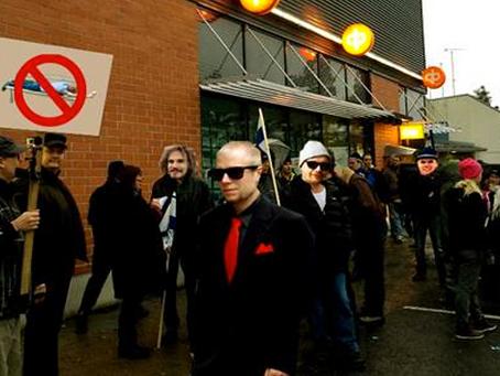 Rullinvastainen mielenilmaus Jyväskylän keskustassa sujui ilman häiriköintiä