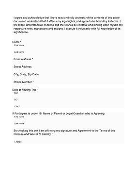 Game Fish Guide Service Release & Liabil