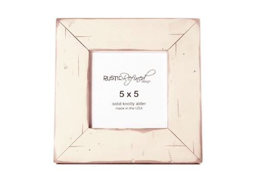5x5 Cabin Picture Frame Off White