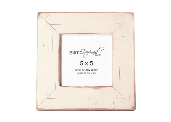 5x5 Cabin Picture Frame - Off White