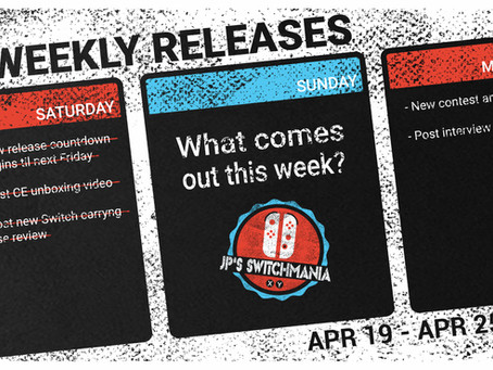 (Updated) Week of April 19th, 2020 Nintendo Switch Physical Releases & Limited Preorders