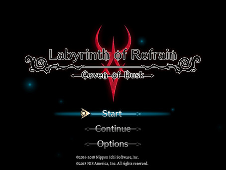 Review #003: Labyrinth of Refrain: Coven of Dusk (Nintendo Switch)