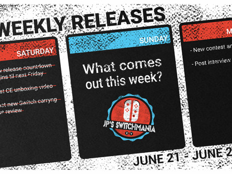 Week of June 21st, 2020 Nintendo Switch Physical Releases & Limited Preorders