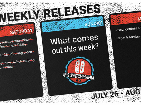 Week of July 26th, 2020 Nintendo Switch Physical Releases & Limited Preorders
