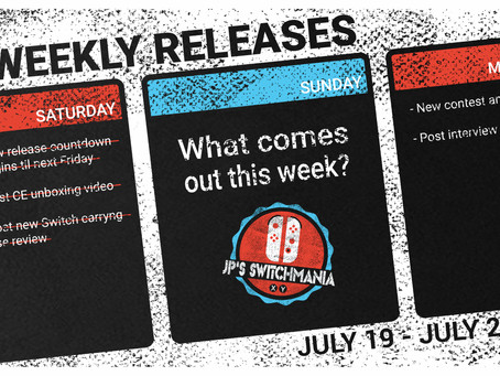 Week of July 19th, 2020 Nintendo Switch Physical Releases & Limited Preorders