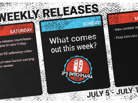 Week of July 5th, 2020 Nintendo Switch Physical Releases & Limited Preorders