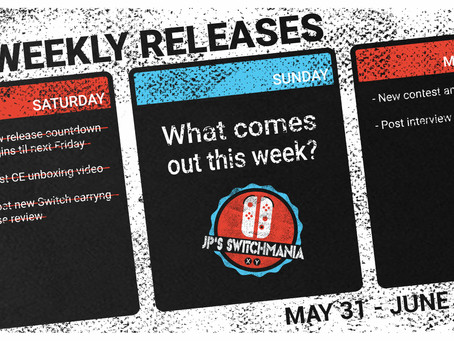 Week of May 31st, 2020 Nintendo Switch Physical Releases & Limited Preorders