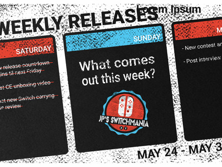 Week of May 24th, 2020 Nintendo Switch Physical Releases & Limited Preorders