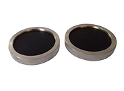 Discos de Neoprene e Par de Pratos par Cp´s Ø5x10cm e Ø10x20cm