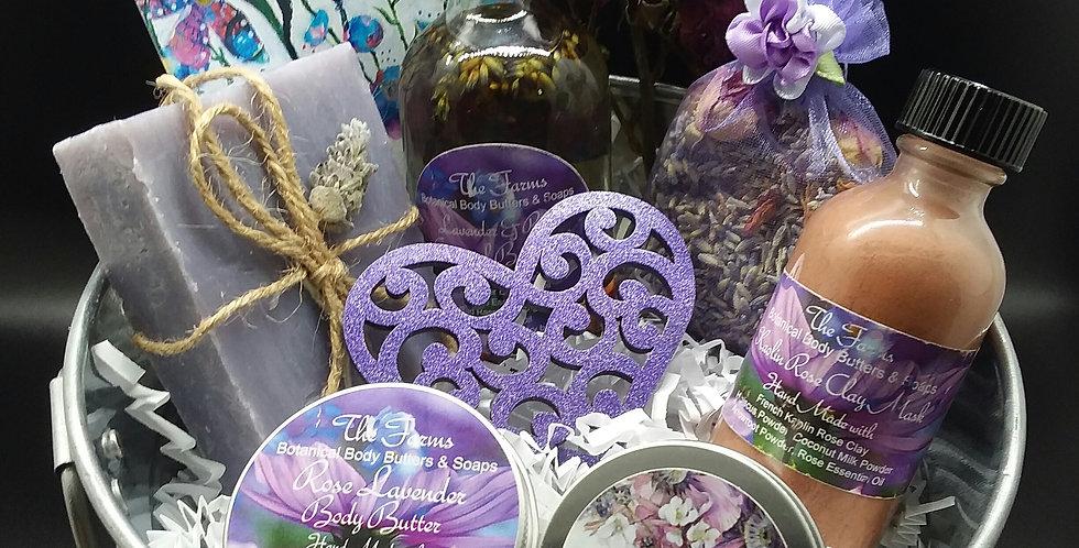 Lavender & Rose Gift Basket