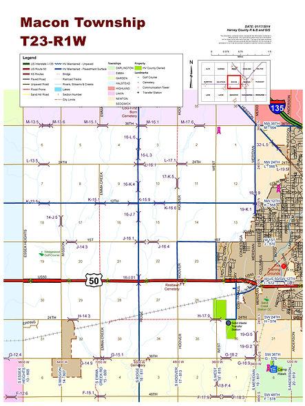 Macon Township map