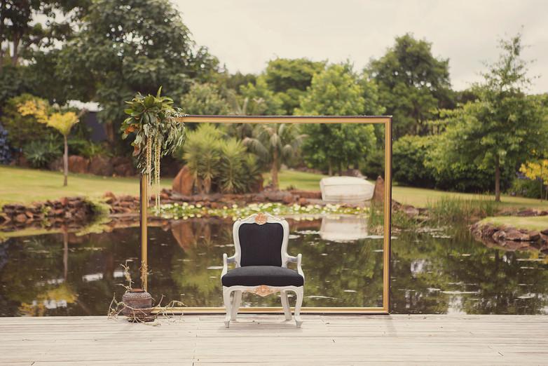 Backdrop _ Black Louise Chair _ Lantern