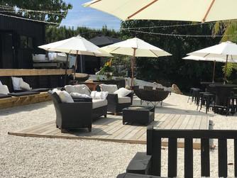 Beer Garden _ Umbrellas _ Cane furniture