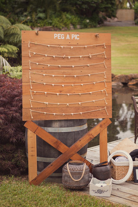 Back Drop _ Rimu Photoboard _ Pegs