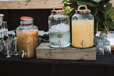 Beer Garden _ Glass urns