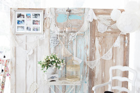 Backdrop _ Doors _ Shabby Chic Chandelier