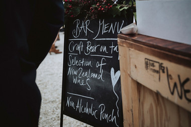 Beer Garden _ Bar Menu Sign