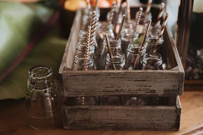 Beer Garden _ Crates _ Mini Milk Bottles