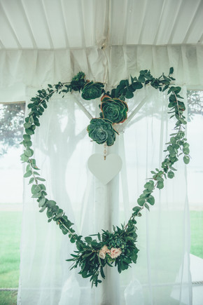 Giant Wire Heart _ Succulents _ Foliage