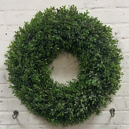 "21"" Faux Boxwood Wreath"