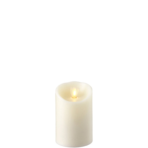 """3 """"X4 """" Moving Flame Ivory Pillar Candle"""
