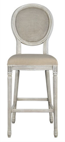 Maddox 30in Mesh Back Stool (Oatmeal Linen)
