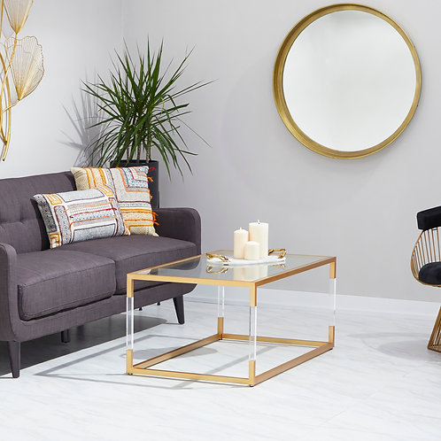 Glass and Acrylic Coffee Table