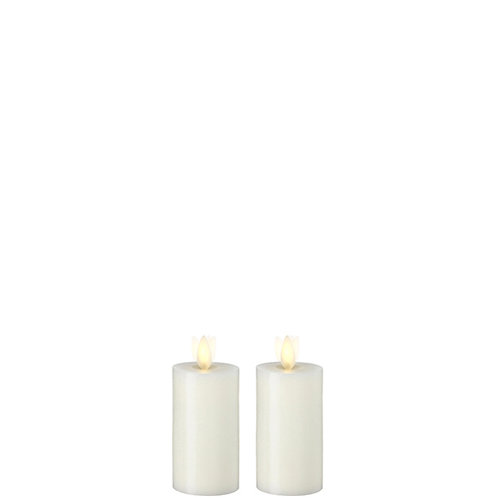 "2 ""X4 "" Set/2 Moving Flame Ivory Wax Votive Candle"