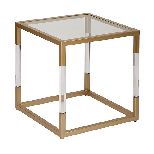 Glass and Acrylic End Table