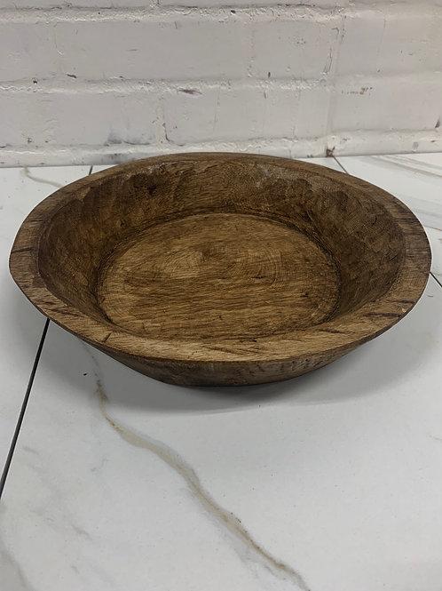 Round Doughbowl - Small - Walnut Wash