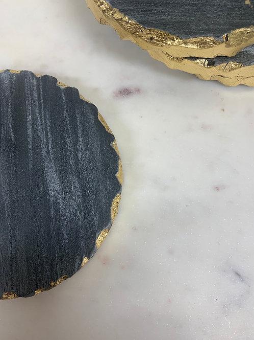 Vernazza Black Coasters (set of 4)