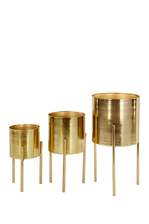 Gold Planters with Stand