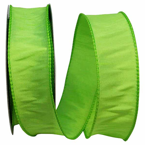 Lime Dupioni Supreme Silk Ribbon